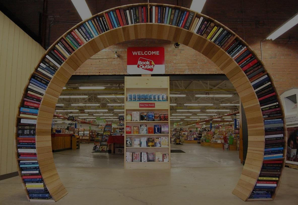 Book outlet retail store lobby