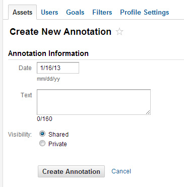 Adding annotations in Google Analytics